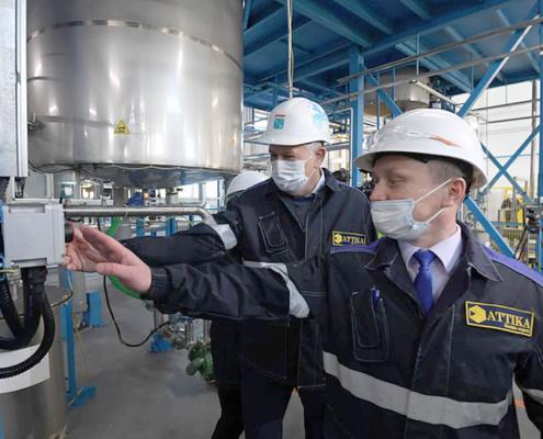 Открытие нашего завода «АТТIКА» по производству полимерных смол.